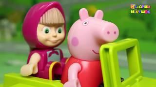 Мультфильмы - Маша и Свинка Пеппа в Африке! Маша и Медведь Новая серия! Мультики Для детей 2017 года