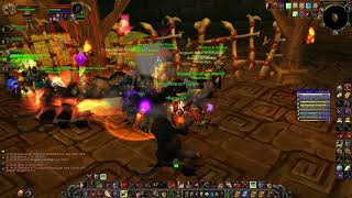 Only hamstring dps, Fury warrior selfbuffed + Windfury Totem