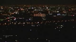 無料!!大阪府高槻市の夜景の穴場スポット!!階段が長くて運動不足の僕はハァ~ハァ~言っております!!