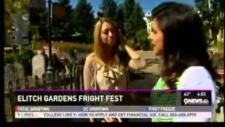9News - Belen DeLeon has a Frighteningly Good Time at Elitch Gardens
