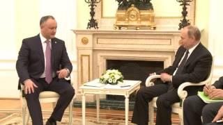 В Москве состоялась встреча Игоря Додона и Владимира Путина