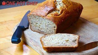 3 Ingredient Banana Bread | One Pot Chef