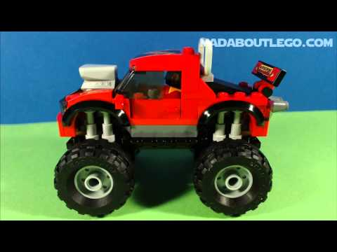 Vidéo LEGO City 60027 : Le camion de transport du Monster Truck