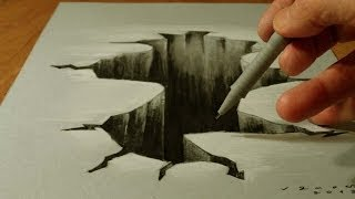 3D Drawing Hole, Trick Art on Paper