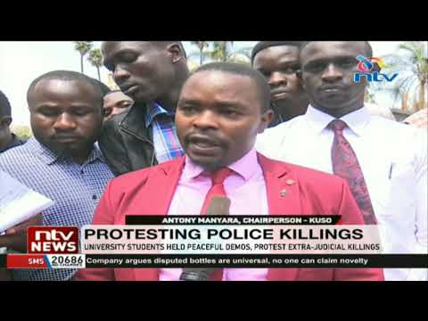 University students hold peaceful demos protesting extra-judicial killings
