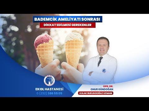 Bademcik Ameliyatı Sonrası Dikkat Edilmesi Gerekenler - Opr. Dr. Onur Gündoğan - İzmir Ekol Hastanesi