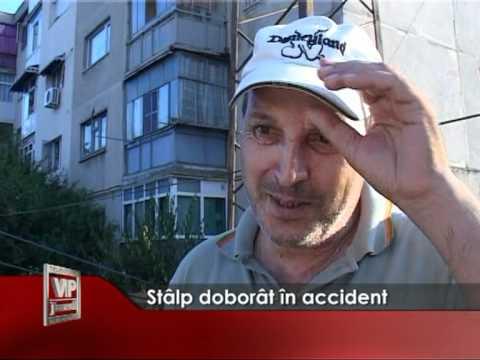 Stalp doborat in accident