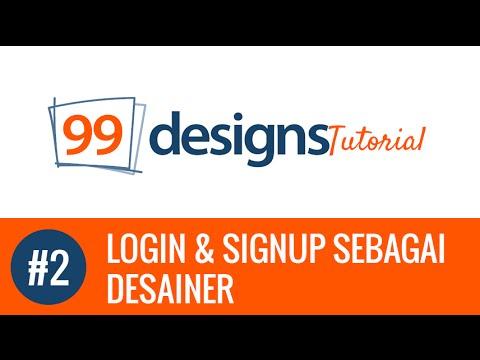 Video 99 Designs - Login & SignUp Sebagai Desainer #2
