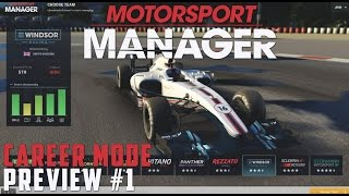 Motorsport Manager PC PREVIEW Career Mode - PART 1 THE BEST START POSSIBLE! (F1 Manager Game 2016)