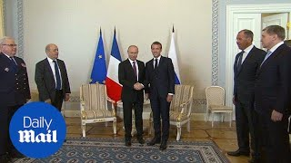 Russia's Putin meets with France's Macron at economic forum - Daily Mail