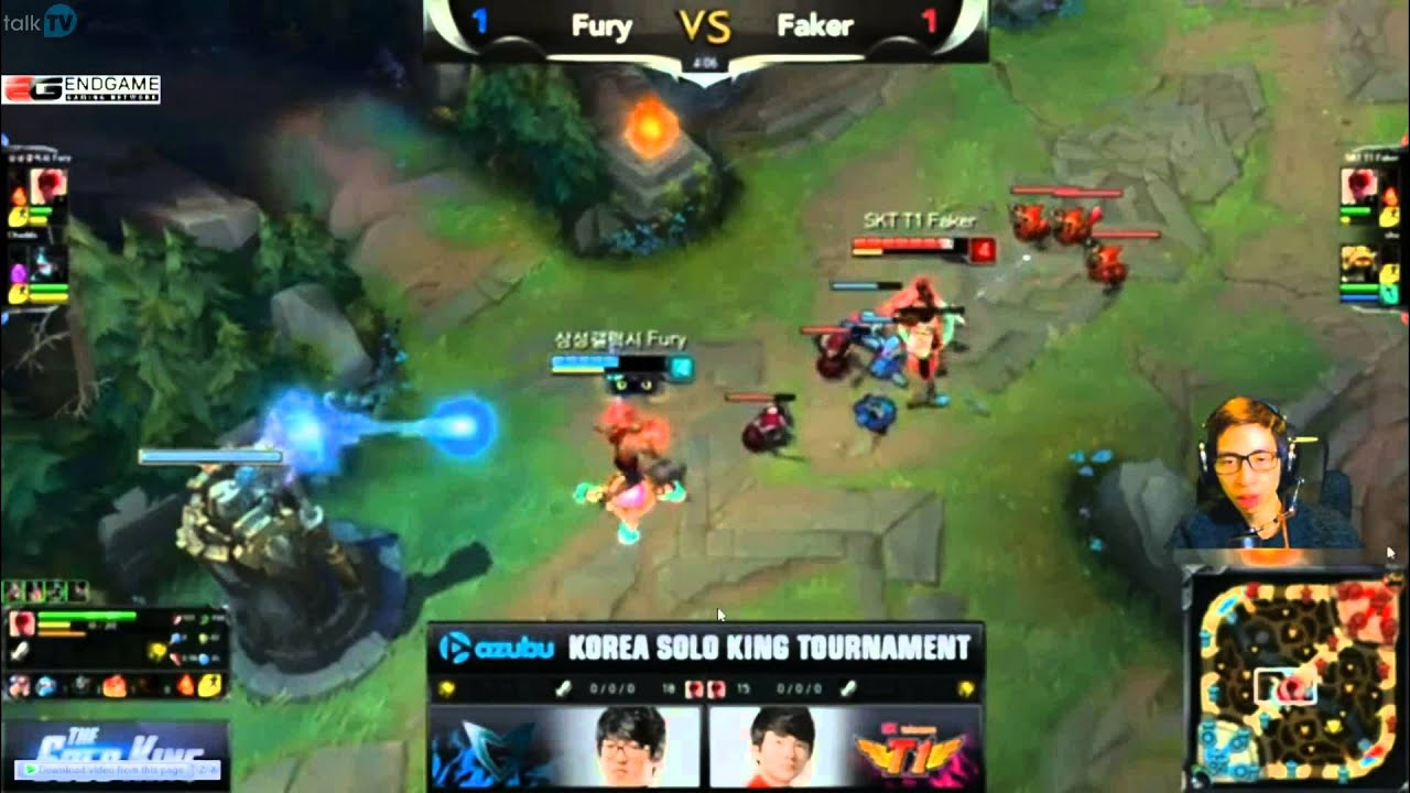 LMHT: Faker vs Fury giải The Solo King 1v1 Hàn Quốc [Solo Leesin]