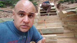 The mistake I made installing pressure-treated Timber stairs