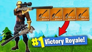 The SNIPER ONLY Challenge! [Fortnite - Battle Royale] - Video Youtube