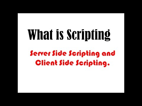 what is client side scripting and server side scripting