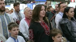"""Різдвяний флешмоб-коляда у Тернополі """"Україна чекає на тебе"""""""