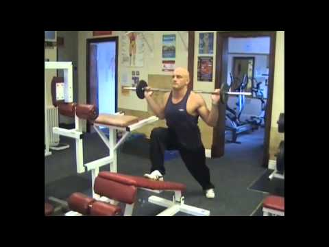 Decline Bench Barbell Lunge