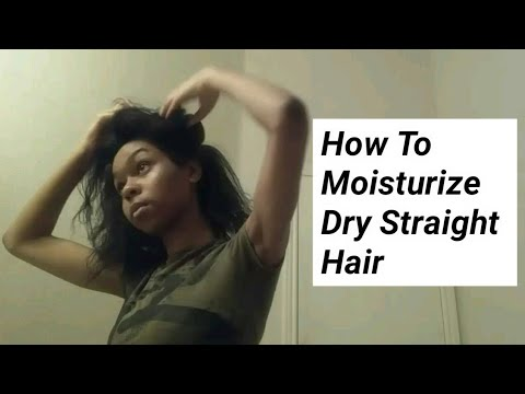 How To Moisturize: No Shrinkage Or Revertion, On Dry Straight Natural Hair