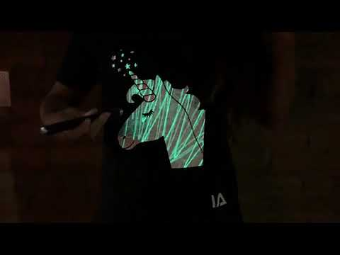 Youtube Video for Unicorn Interactive Glow T-Shirt - Age 5-6