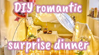 DIY Romantic Surprise for him! ( Tight budget romantic ideas for hubby - He loved it! ) ❤️