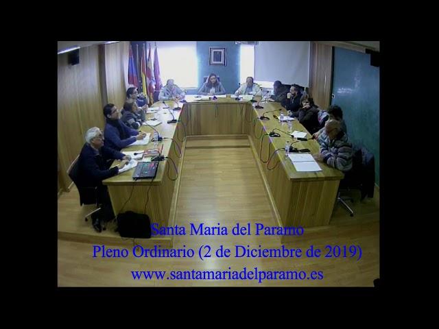 Pleno Ordinario (2 de diciembre 2019)