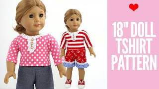 Doll Clothes Patterns - Free 18 Doll T-shirt Tutorial