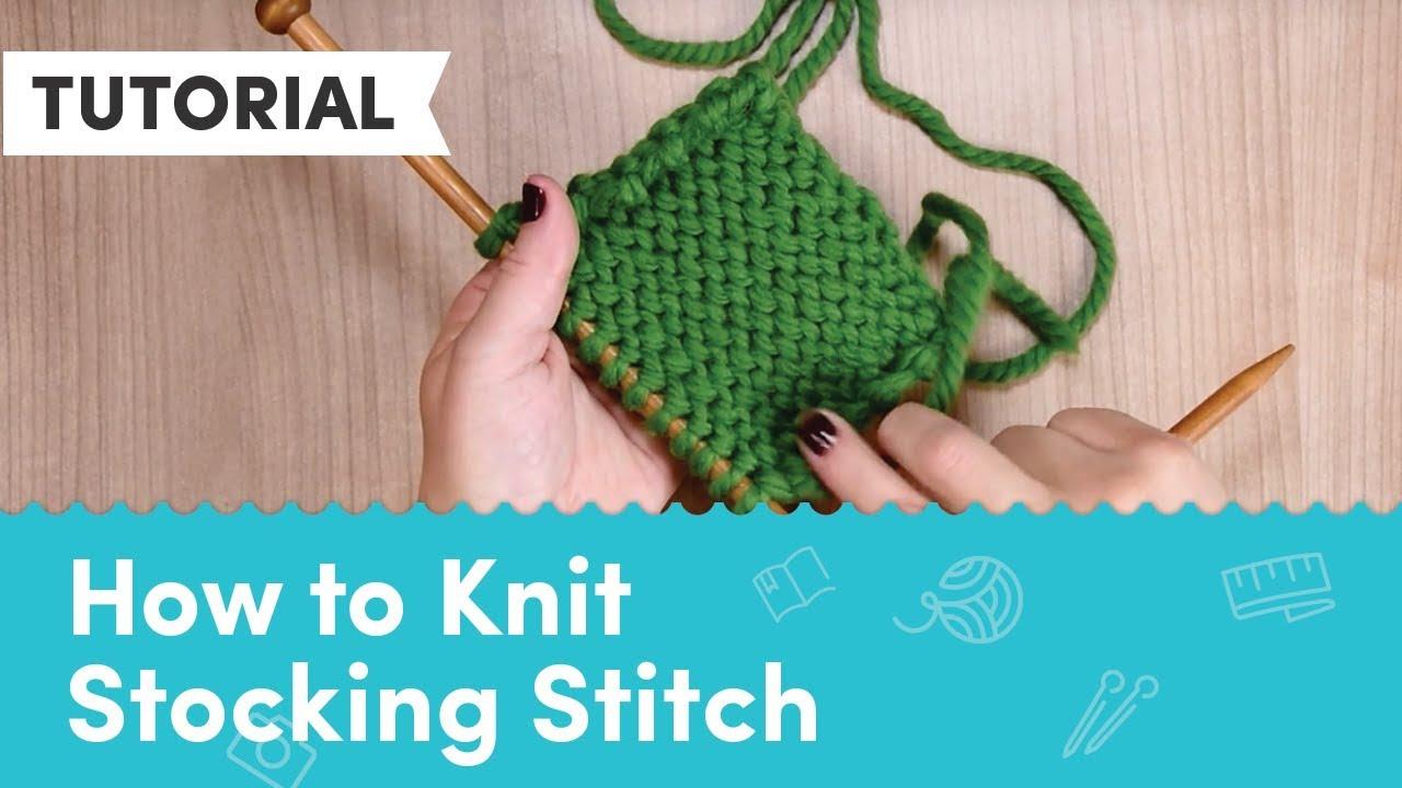 How To Stocking Stitch Loveknitting