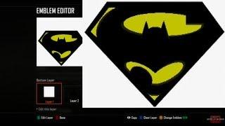 Call of Duty Black Ops 2 Emblem Editor Tutorials - Black Ops 2 - SUPERMAN & BATMAN Super Batman logo - Emblem Tutorial Playercard Xbox 360 PS3 WiiU II