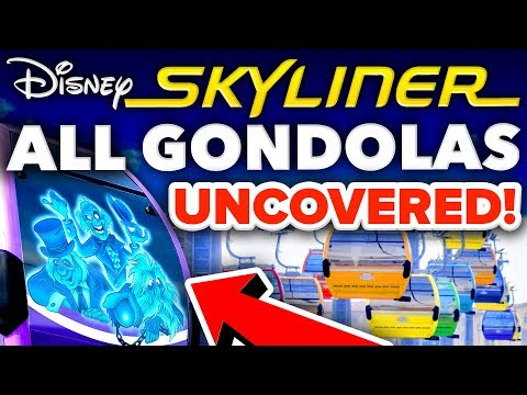 Download ALL Disney Skyliner GONDOLAS UNCOVERED in Hollywood Studios! - Disney News Mp4 HD Video and MP3