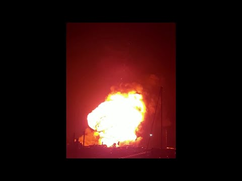 Huge fire and explosion on UK's Kent coast