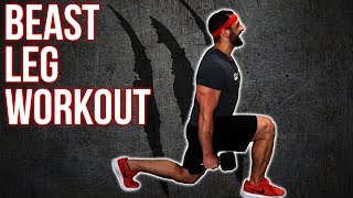 Beast Home Dumbbell Leg Workout (Build Leg Muscle/ Mass With This Workout) by BarbarianBody