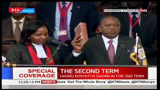 President Uhuru Kenyatta takes the oath of office