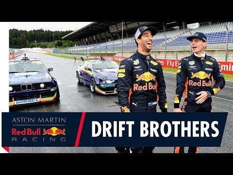 Daniel and Max drift like bros | Red Bull Driftbrothers at the Austrian Grand Prix