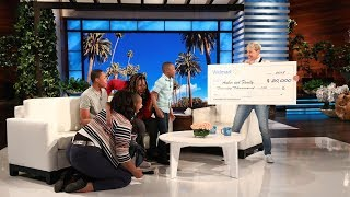 Ellen Surprises an Amazing Family from Philadelphia - Video Youtube