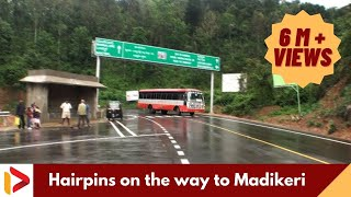 Hairpin bends in Madikeri Town