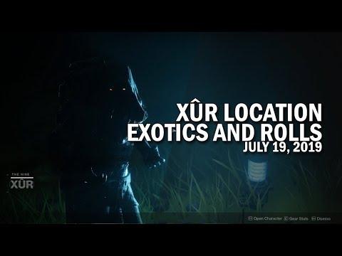 Xur Location, Exotics & Armor Rolls 7-19-19 / July 19, 2019 [Destiny 2]