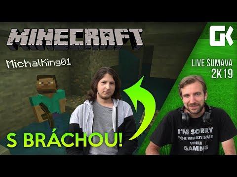 LIVE ŠUMAVA 2K19: Minecraft s bráchou!