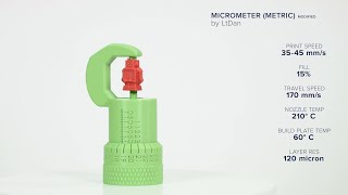 Micrometer by LtDan - Ultimaker: 3D Printing Timelapse