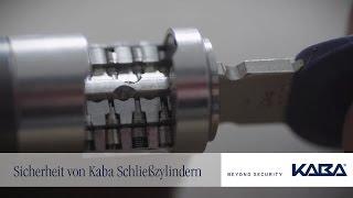 Sicherheit von Kaba Schließzylindern