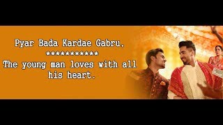 Pyar Tenu Karda Gabru Lyrics with English   - YouTube