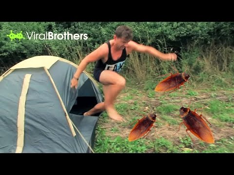 COCKROACHES IN TENT PRANK