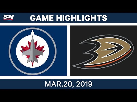 NHL Game Highlights | Jets vs. Ducks - March 20, 2019