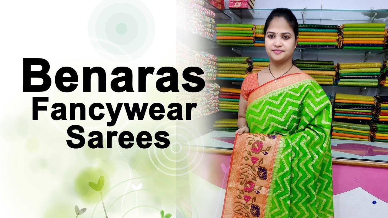 "<p style=""color: red"">Video : </p>Benaras Fancywear Sarees    Vigneshwara Silks    2021-01-11"