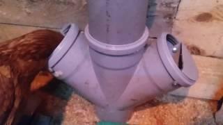 Фидерная кормушка из канализационной трубы