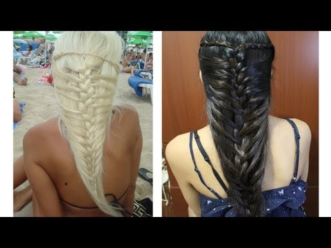 Cute Mermaid And French Braid Hairstyle | Trusper