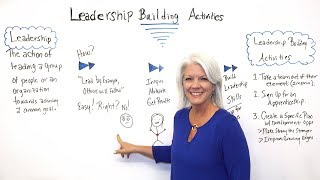 Leadership Building Activities - Project Management Training