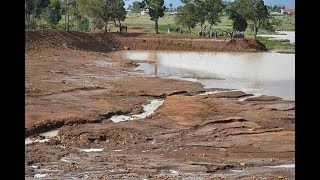 Karai 'dam' bursts after heavy rains - VIDEO