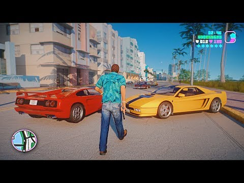 GTA: Vice City 2020 Remastered Gameplay! 4k 60fps Next-Gen Ray Tracing Graphics [GTA 5 PC Mod]