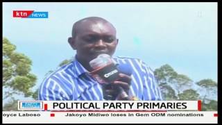Hon. Oscar Sudi is booed as he tries to address Uasin Gishu residents as they wait for primaries