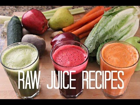 Video 3 Fresh Raw Juice Recipes