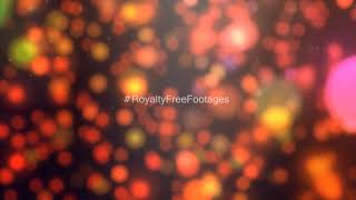 Orange bokeh particles | particles light leaks video | abstract background hd, Royalty Free Footages